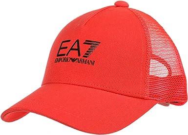 Emporio Armani EA7 Gorras Hombre Red Fluo: Amazon.es: Ropa y ...