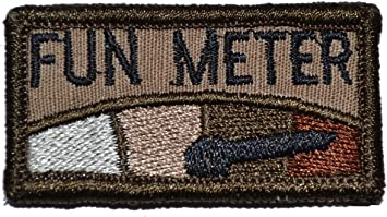 Black Zero ***** Given Meter 1x2 Patch with Velcro Multiple Colors