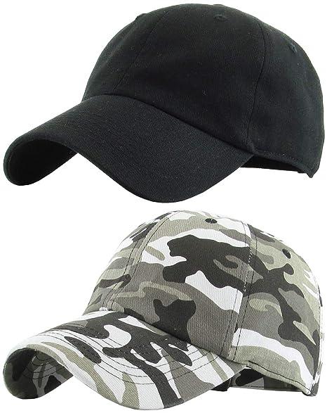 8842e69c0b301 H-218-2-068406 2-Pack Baseball Cap Bundle  Black and City Camo at ...
