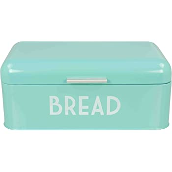 Turquoise Bread Box Best Amazon Home Basics Metal Bread Box With Lid Kitchen Dining