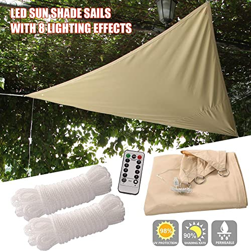 Naconic Triangle Patio Sun Block Shade Sail