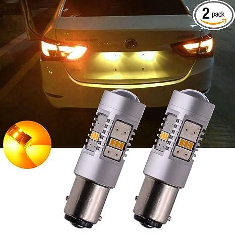 Amazon.com: tuincyn 1156 BA15S bombillas LED de color blanco ...