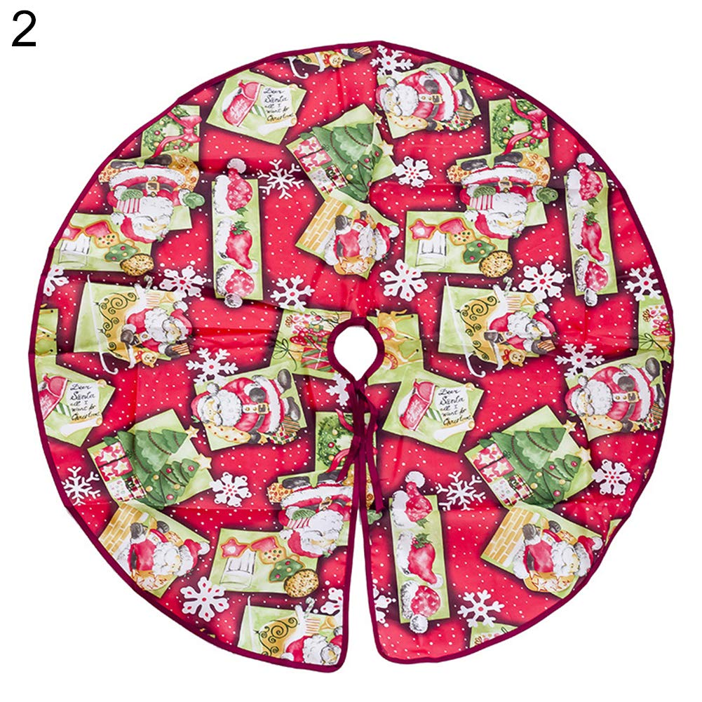 Dds5391 Novelty 60/90cm Christmas Tree Dress Skirt Floor Mat Cover Santa Flower Party Xmas Decor - 60cm 2