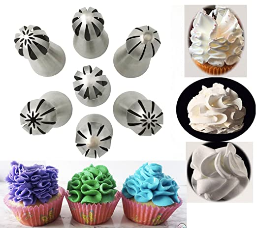 NEW Russian Stainless Pastry Tips Fondant Cake Decor Icing Piping Nozzles
