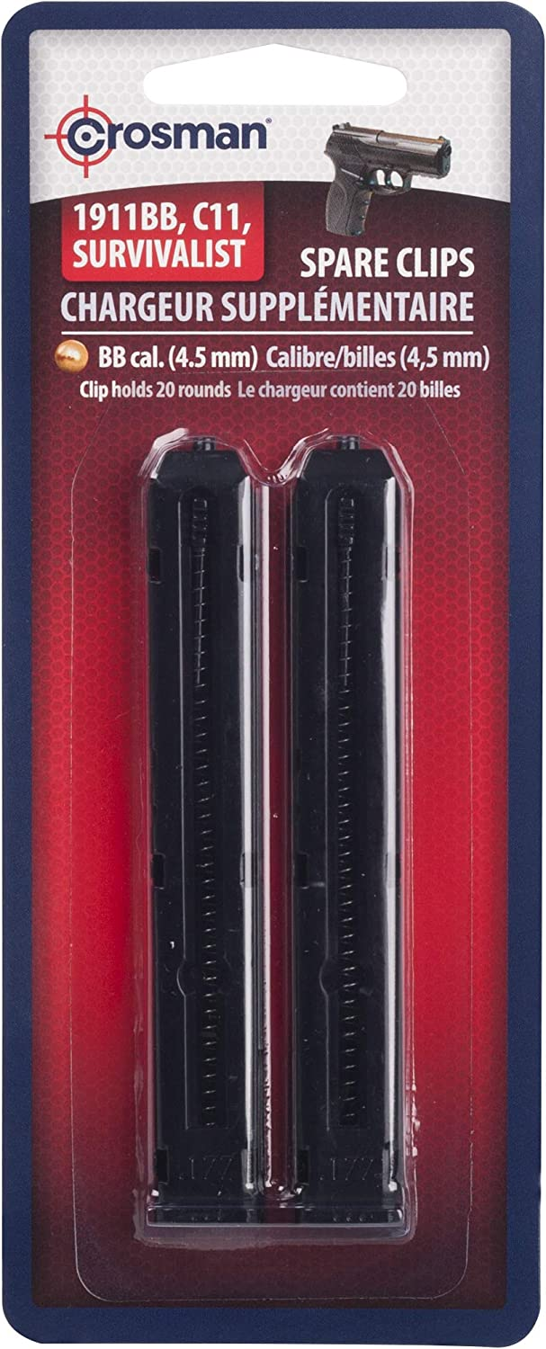 Crosman 0481 Spare Clip For C11 / P10 Series Air Pistols, 2-Pack : Airsoft Magazines : Sports & Outdoors