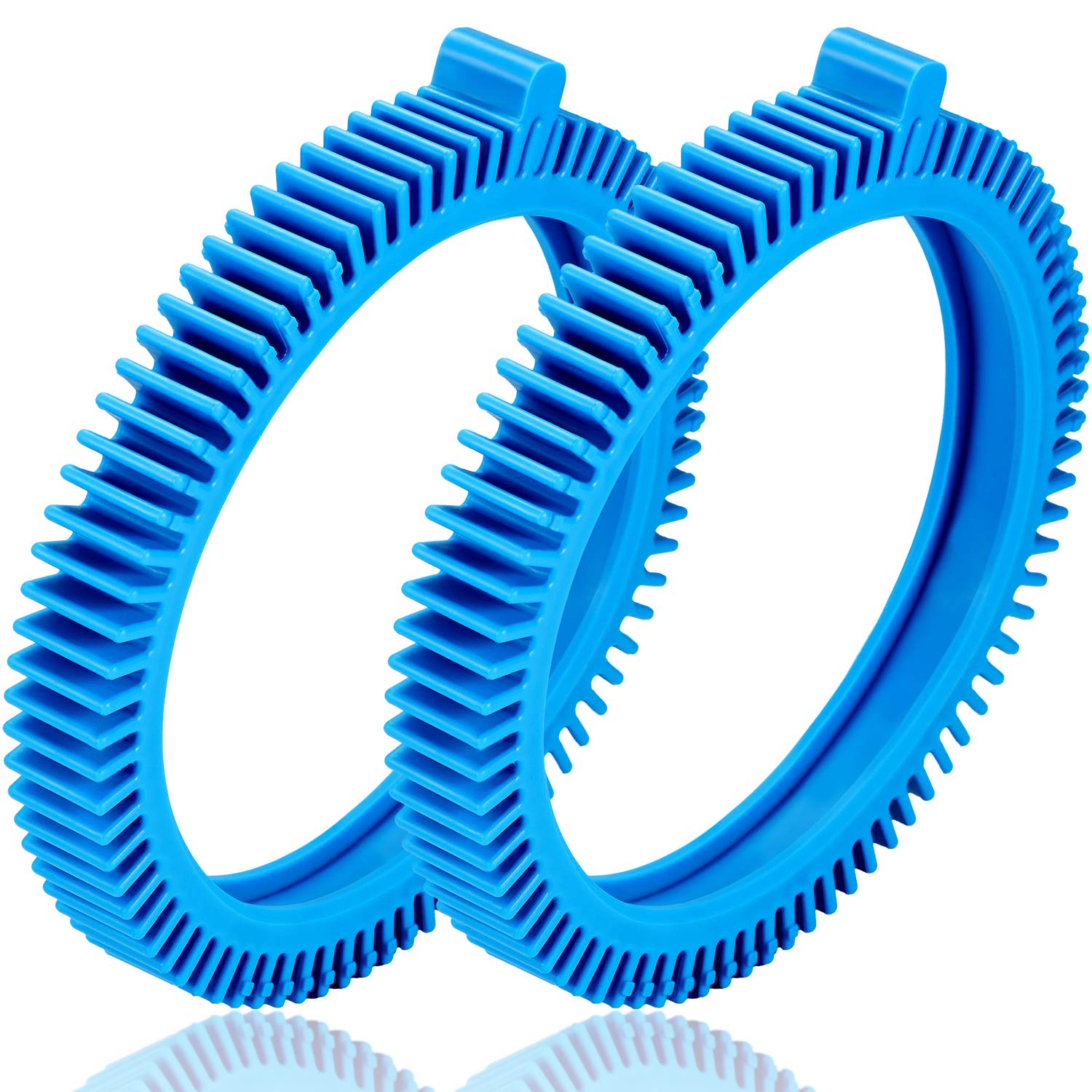 2 Pieces 896584000-143 Blue Front Tire Kit, Front Tires with Hump Replacement for Pool Cleaners 2X, 4X, Pressure - Concrete Pool