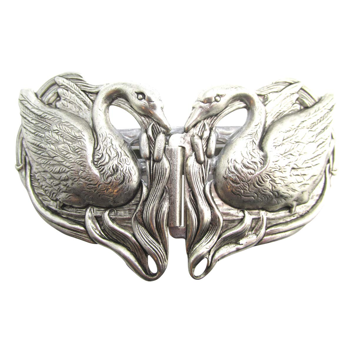 Swan Hair Clips Silver Barrettes French Back Wedding Hair Pieces Accessories by Angelina Verbuni