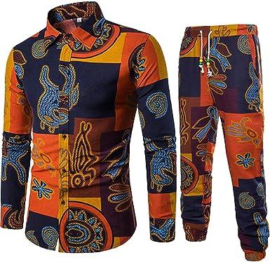 KLJR Men Linen Short Sleeve 2 Pieces Outfits with T-Shirts Shorts Sweatsuit