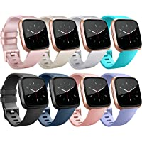 Tobfit for Fitbit Versa 2 Bands/Fitbit Versa Lite Bands, Sport Wristband Small Large Classic TPU Replacement Watch Band for Fitbit Versa & Fitbit Versa Lite & Versa SE & Versa 2 Smart Watch