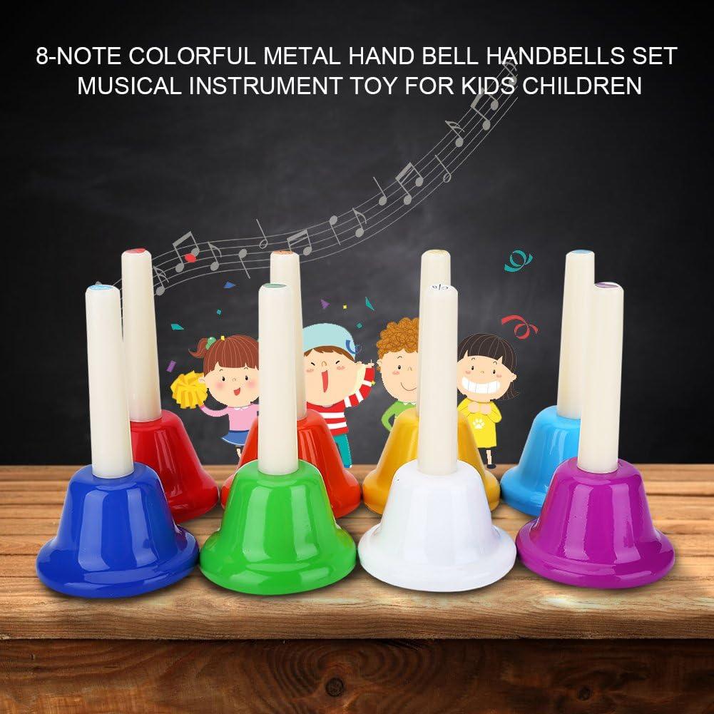 8 Campanas de Metal de 8 Notas de Colores con Juego de Instrumentos Musicales para ni/ños. Qiterr Lecci/ón de octava con Instrumentos Musicales Orff