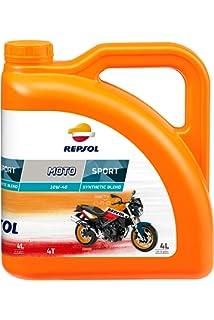 Repsol RP160P54 Moto 4T 10W-50 Aceite de Motor, 4 L: Amazon.es ...