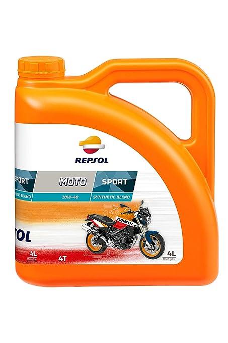 Repsol RP180N54 Moto Sport 4T 10W-40 Aceite de Motor, 4 L