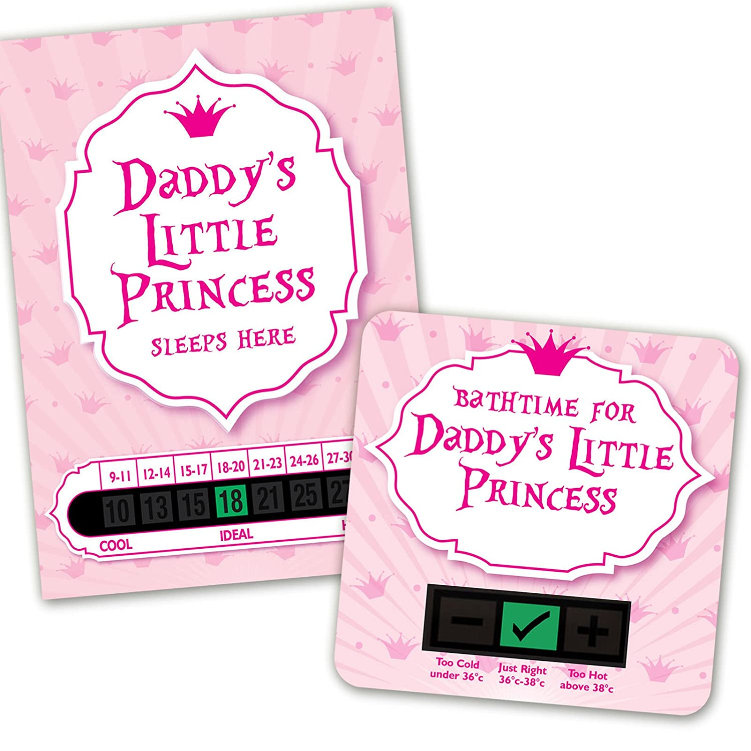 Daddys Little Princess room thermometer and bath thermometer set Funky Monkey House