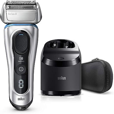 Braun Series 8 8370 cc Afeitadora Eléctrica Hombre Nueva Generación, Para Barba, Recargable, Inalámbrica, Estación Limpieza Y Carga Clean&Charge, Funda: Amazon.es: Salud y cuidado personal