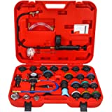 NA. 28pcs Universal Radiator Pressure Tester and Vacuum Type Cooling System Kit with Toolbox Storage for Car Truck…