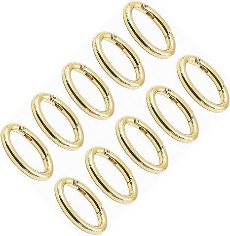38mm Gold Oblong Rings