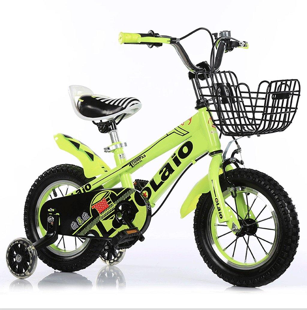 子供の自転車の男の子2-12歳のベビーペダルのベビーカーの自転車の女子学生のマウンテンバイク (色 : 緑, サイズ さいず : 12インチ) B07D572ZGH 12インチ|緑 緑 12インチ