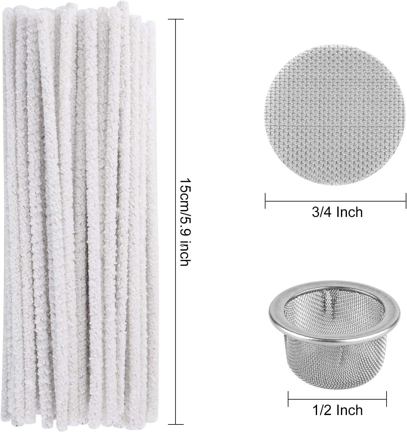ASTARON Il Set di filtri per Tubi e scovolini da 110 Pezzi Include 50 Pezzi di scovolini a setole dure e 60 Pezzi di filtri per Tubi in Acciaio Inossidabile per Tubi di Vetro