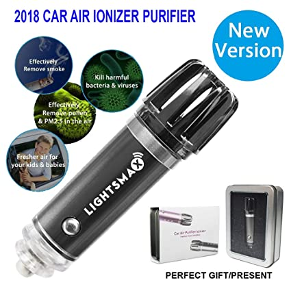 Amazoncom LIGHTSMAX 2018 NEW Car Air Purifier Car Air Freshener