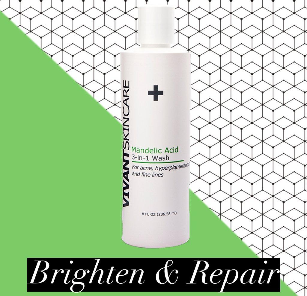Vivant Skin Care Mandelic Acid 3-in-1 Wash, 8 Ounce