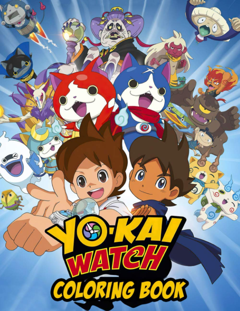 Yo kai Watch Coloring Book A Perfect Coloring Book For Relaxation ...
