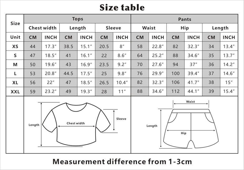 Sport Kurze T-Shirt Shorts Tracksuit Sportswear-Sets f/ür Damen Rying Marcus /& Martinus Twins S/änger Trainingsanzug Sommer Tops
