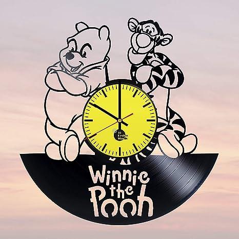 94355aca0c3f Amazon.com  Winnie-The-Pooh Vinyl Record Wall Clock - Get Unique ...