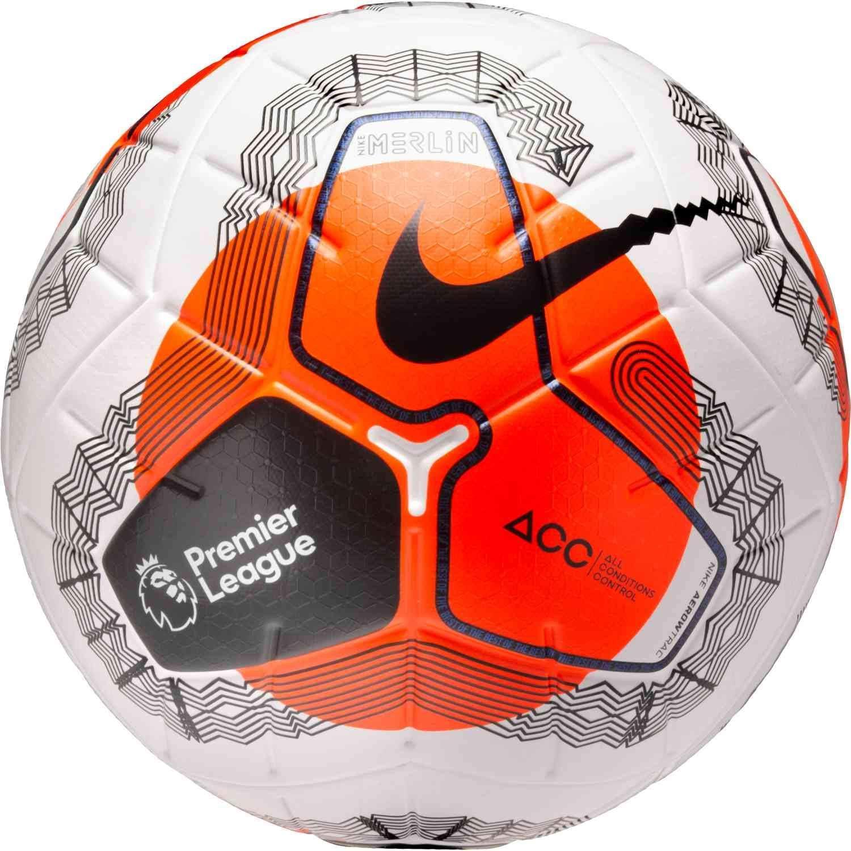 cráter toque Inseguro  Amazon.com : Nike Premier League Merlin Official Match Soccer Ball : Sports  & Outdoors