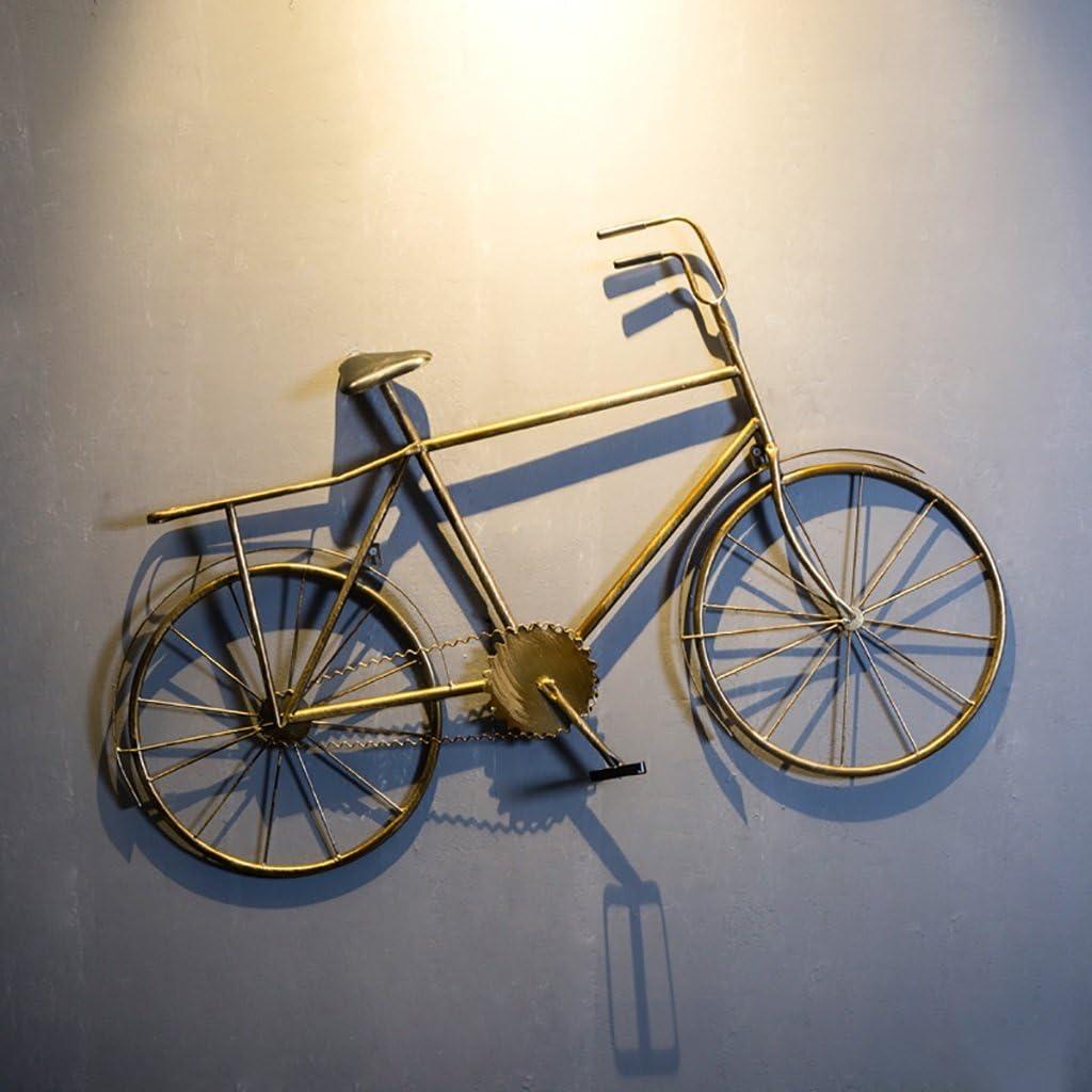 QBDS Decoración Retro Creativa de la Pared del Modelo de la Bicicleta, Decoración de la Pared de la Personalidad del Hierro de la Barra del Restaurante Colgante Decorativo (Color : A)