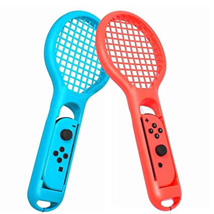 Amazon Com Tennis Racket For Mario Tennis Aces Game 2 Pack Tennis