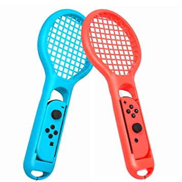 Amazon.com: Raqueta de tenis para Mario Tennis Aces Game, 2 ...