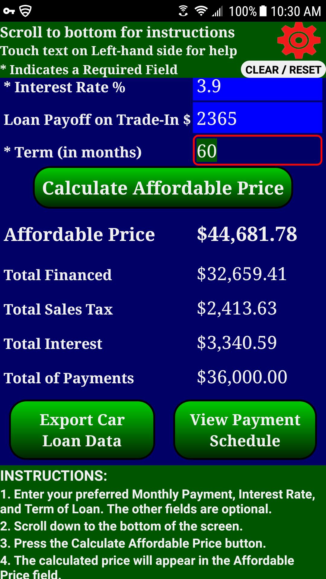 Amazon Com Auto Car Truck Rv Loan Payment Calculator Pro Appstore