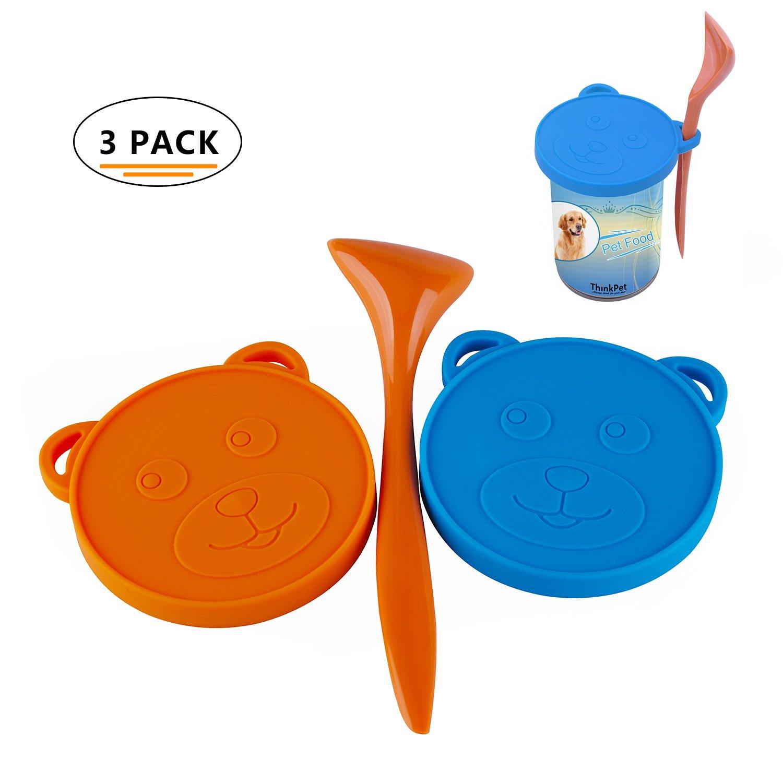 ThinkPet contenitori alimentari tappo lattina tappi per lattine silicone uno disponibile per tre taglie un pacchetto di tre colori casuali TP-CC-001-P3