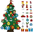 Appok Felt Christmas Tree for Toddlers - DIY Felt Xmas Trees with 35pcs Ornament Set for Kids - 3.5Ft Wall Hanging Felt Tree Decoration for Holiday Party, Home Decor, Window, Xmas Gift