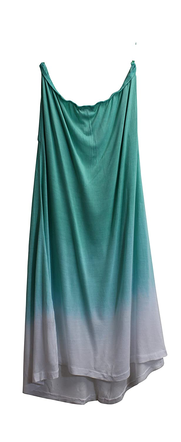 fa9ed04579 Raviya Women's Strapless Ombre Cover Up Maxi Dress Mint XL at Amazon  Women's Clothing store: