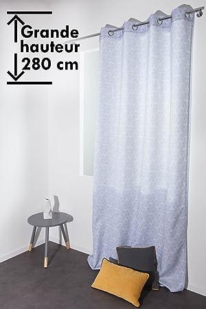 2 PCS Rideau Grande Hauteur 140 x 280 cm à Oeillets Motif ...