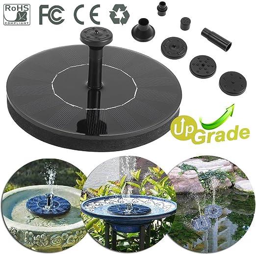 Morbuy Bomba de Agua Solar, Flotante Fuentes de Agua para Aves Baño Tanque de Pescados Estanque Decoración del Jardín Exterior de Cascada (1PC): Amazon.es: Jardín