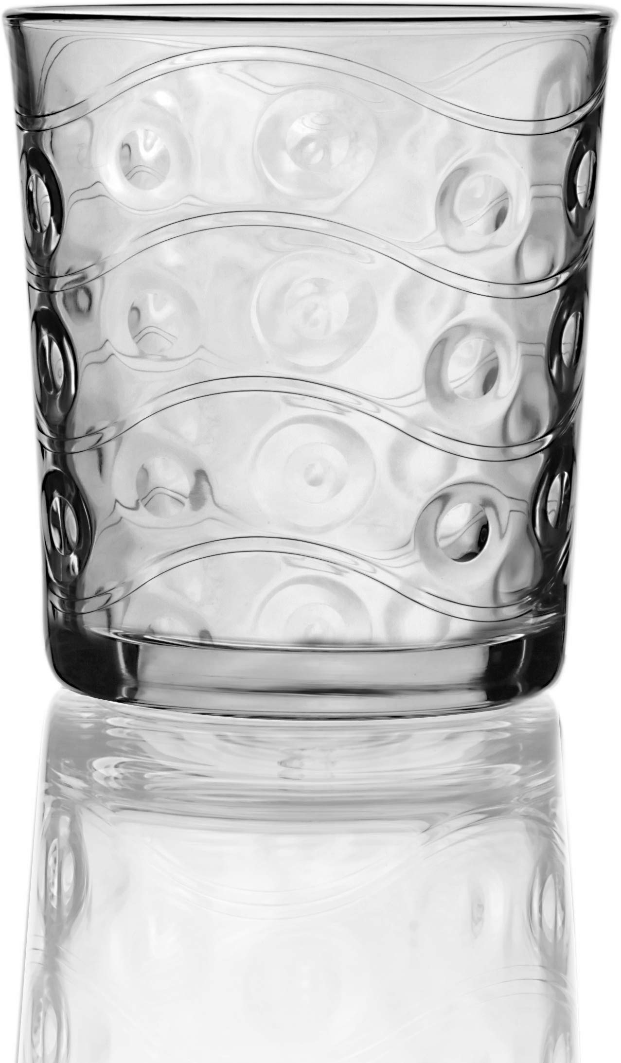 Circleware Heavy Base Whiskey Glasses 4-Piece Set, Party Entertainment Dining Beverage Drinking Glassware Cups for Water…