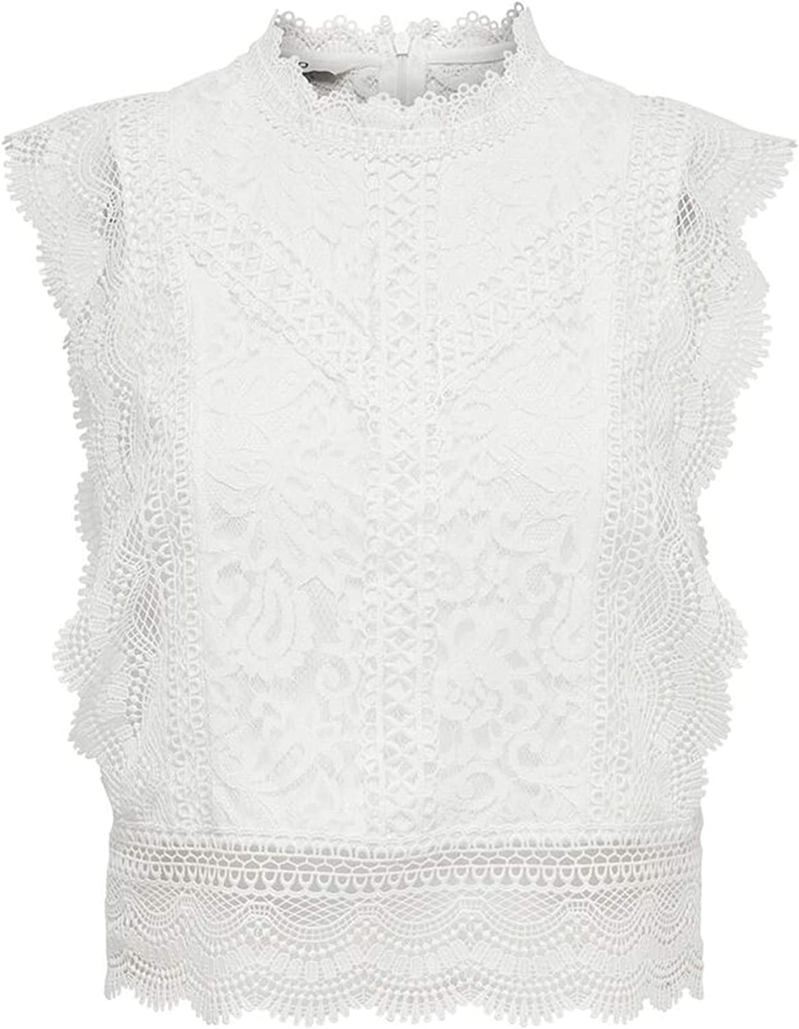 ONLY ONLKARO S//L LACE TOP WVN