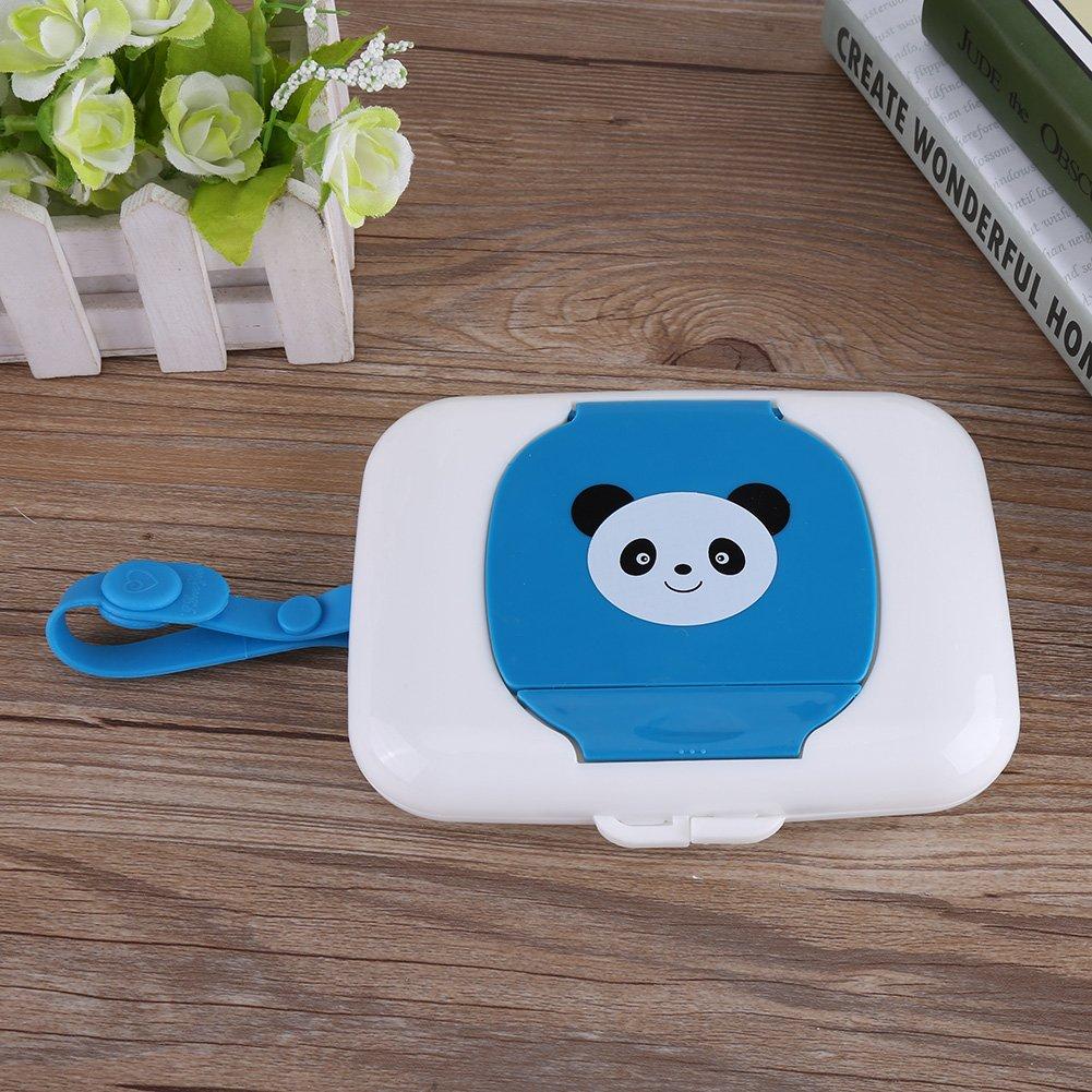 Rose + Yellow Zerodis Feuchtt/ücherbox Baby Feuchtt/ücher Panda Kasten Wet Tissue Case f/ür Outdoor Reise Tragbar Wiederverwendbar