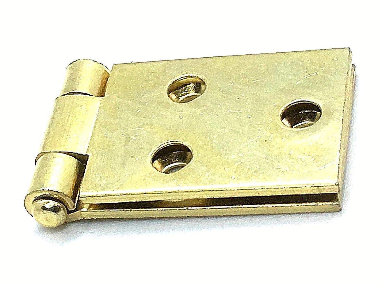 Scharniere mit R/ückklappe 2 St/ück 25 mm Messing beschichtet