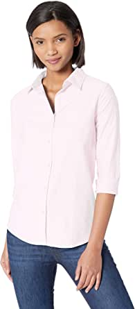 Amazon Essentials Women's Long-Sleeve Solid Oxford Shirt