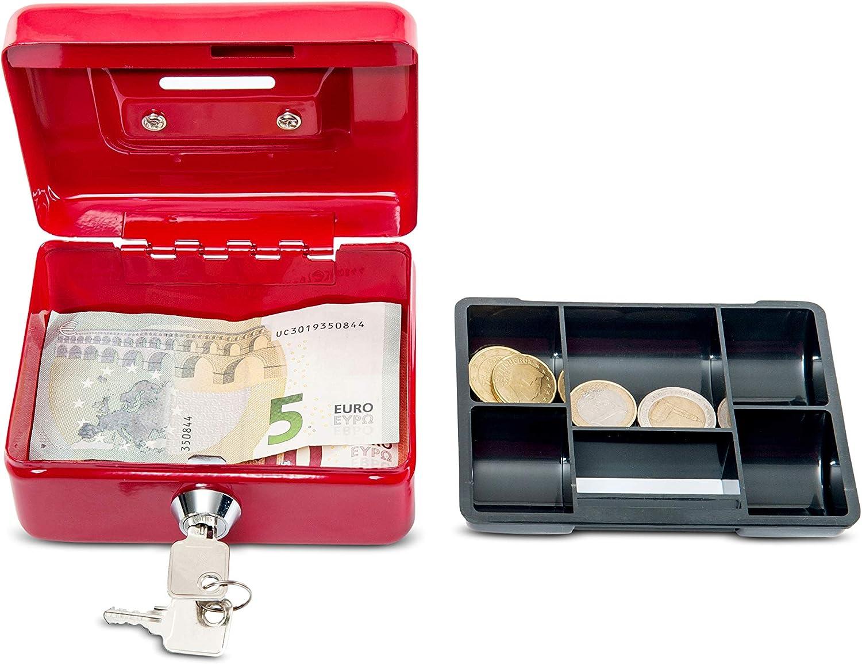 Maul - Caja de caudales (con ranura para monedas, 125 x 95 x 60 mm ...