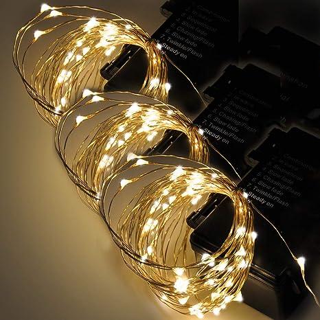 Guirnalda Cadena de Luces Tiras de LED de Navidad Bodas Fiestas Decorativas para Interior Exterior 6 ...