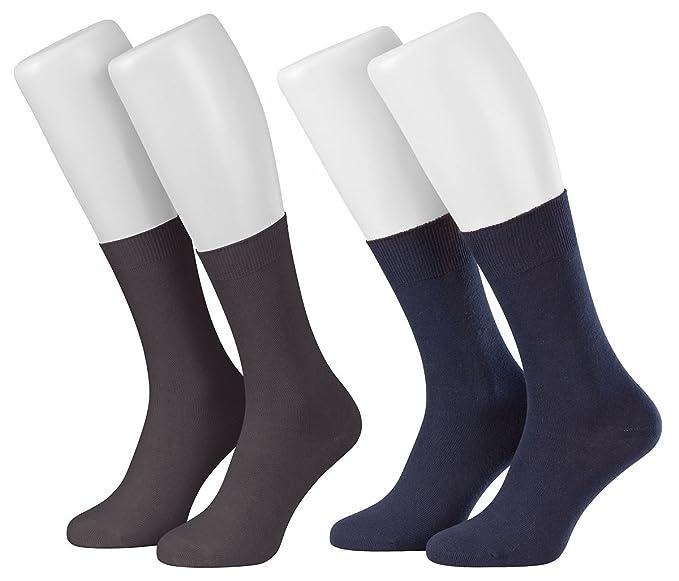 Piarini 10 pares de calcetines elegantes para hombre - 100% algodón sin costuras - En negro blanco y azul marino: Amazon.es: Ropa y accesorios