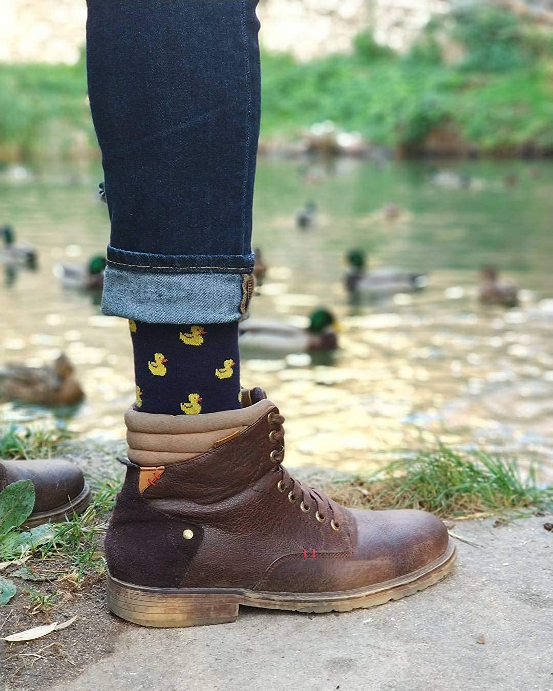 Roits Calcetines Patitos Azul 36-40 - Calcetines Originales Mujer ...