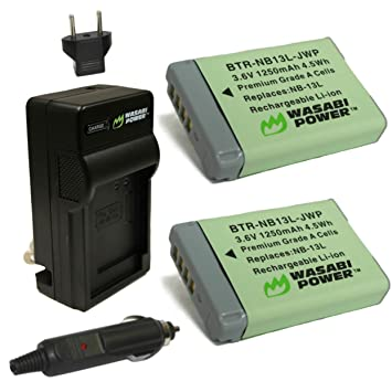 Amazon.com: Wasabi Power – Batería y Cargador para Canon NB ...