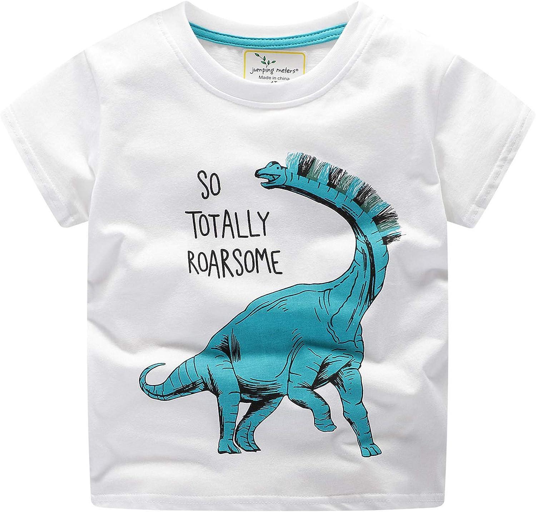 1-8 Yrs Kids Boys Toddler 100/% Cotton Cartoon Crocodile Tshirt T Shirt Tops Tee