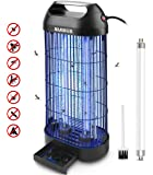 AMUFER Bug Zapper Electric Mosquito Killer/Zapper, Fly Trap Indoor Powerful Insect Killer Fly Zapper with Mosquito Lamp…