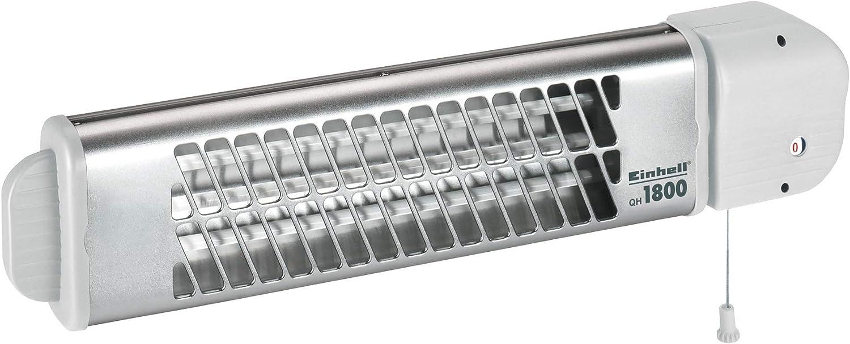 230 V, 1800 W max., 3 Quarzheizst/äbe, 3 Leistungsstufen, 60/° schwenkbar, Zugschalter, f/ür Wandmontage geeignet Einhell Quarzheizstrahler QH 1800